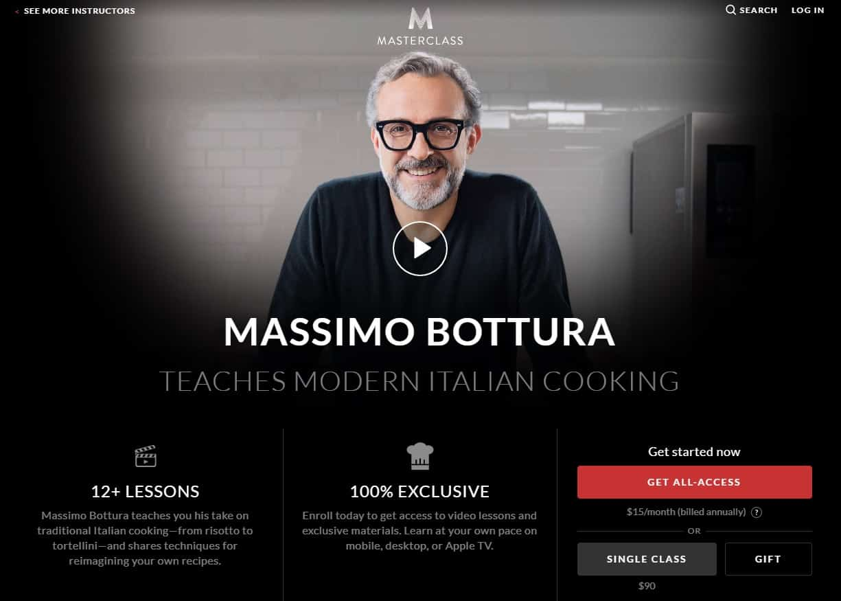 MasterClass Massimo Bottura Modern Italian Cooking Lessons for Beginners