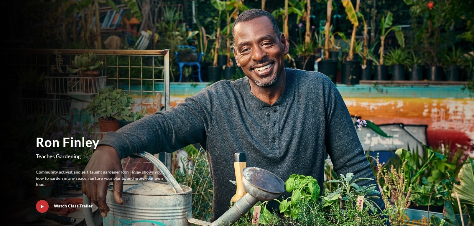 MasterClass Ron Finley Gardening Lessons for Beginners