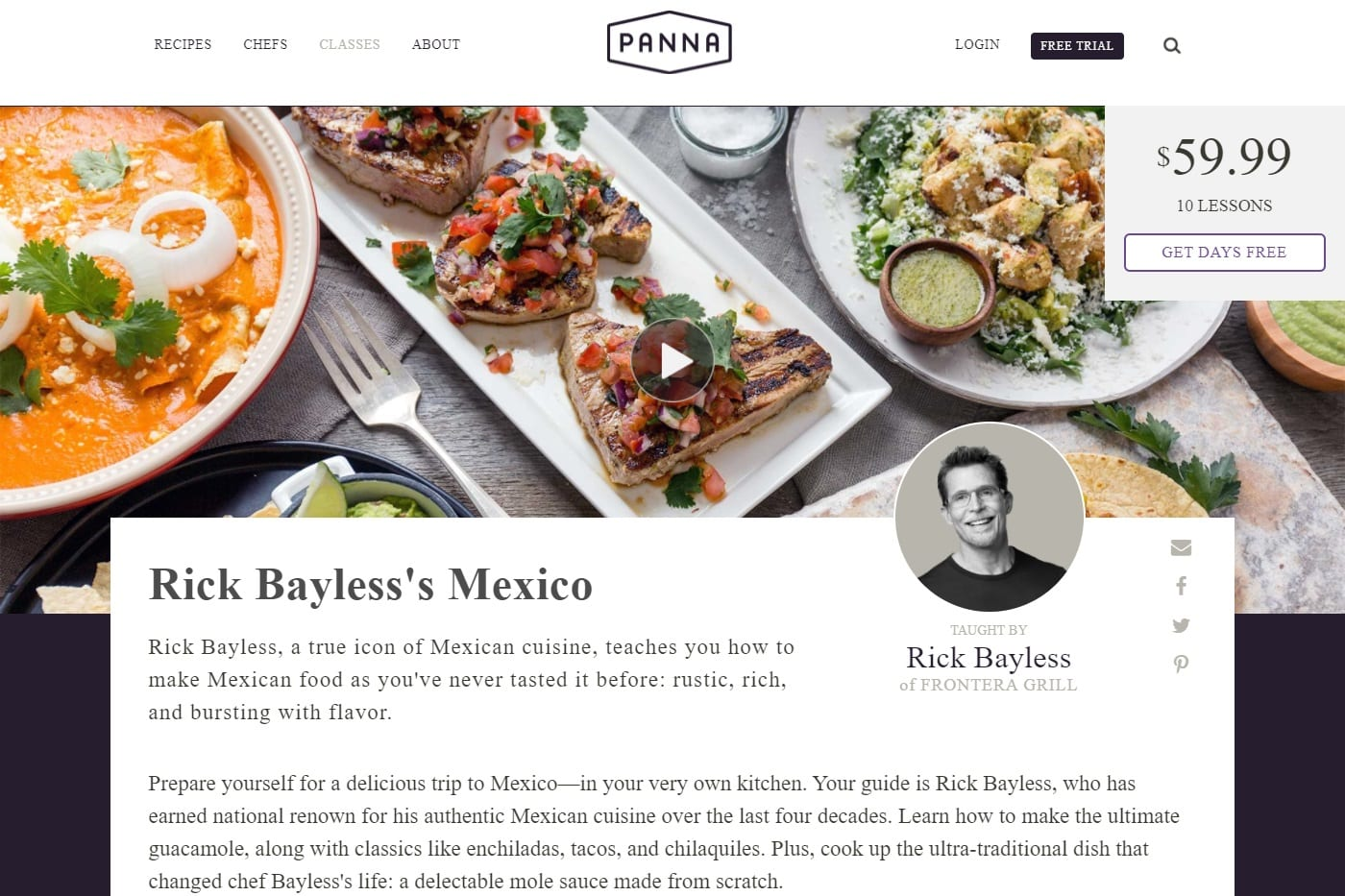 Panna Cooking Mexican Cooking Lessons for Beginners