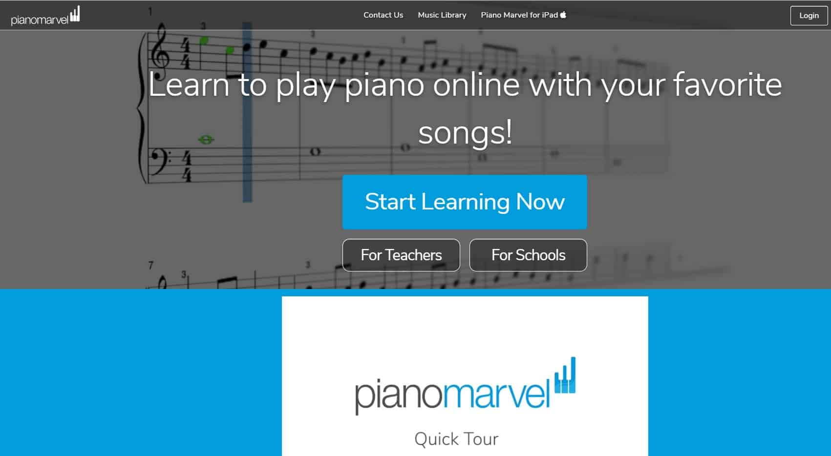 PianoMarvel Piano Lessons for Beginners