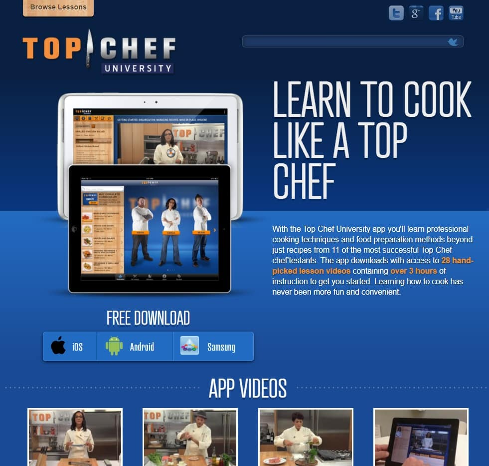 TopChefUniversityApp Cooking Lessons for Beginners