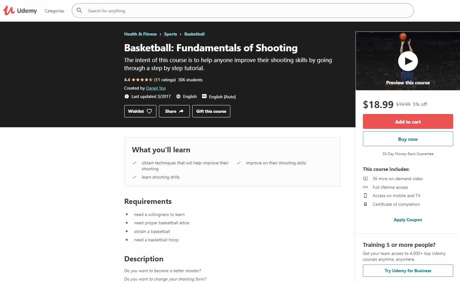 Udemy 1 Basketball Lessons for Beginners
