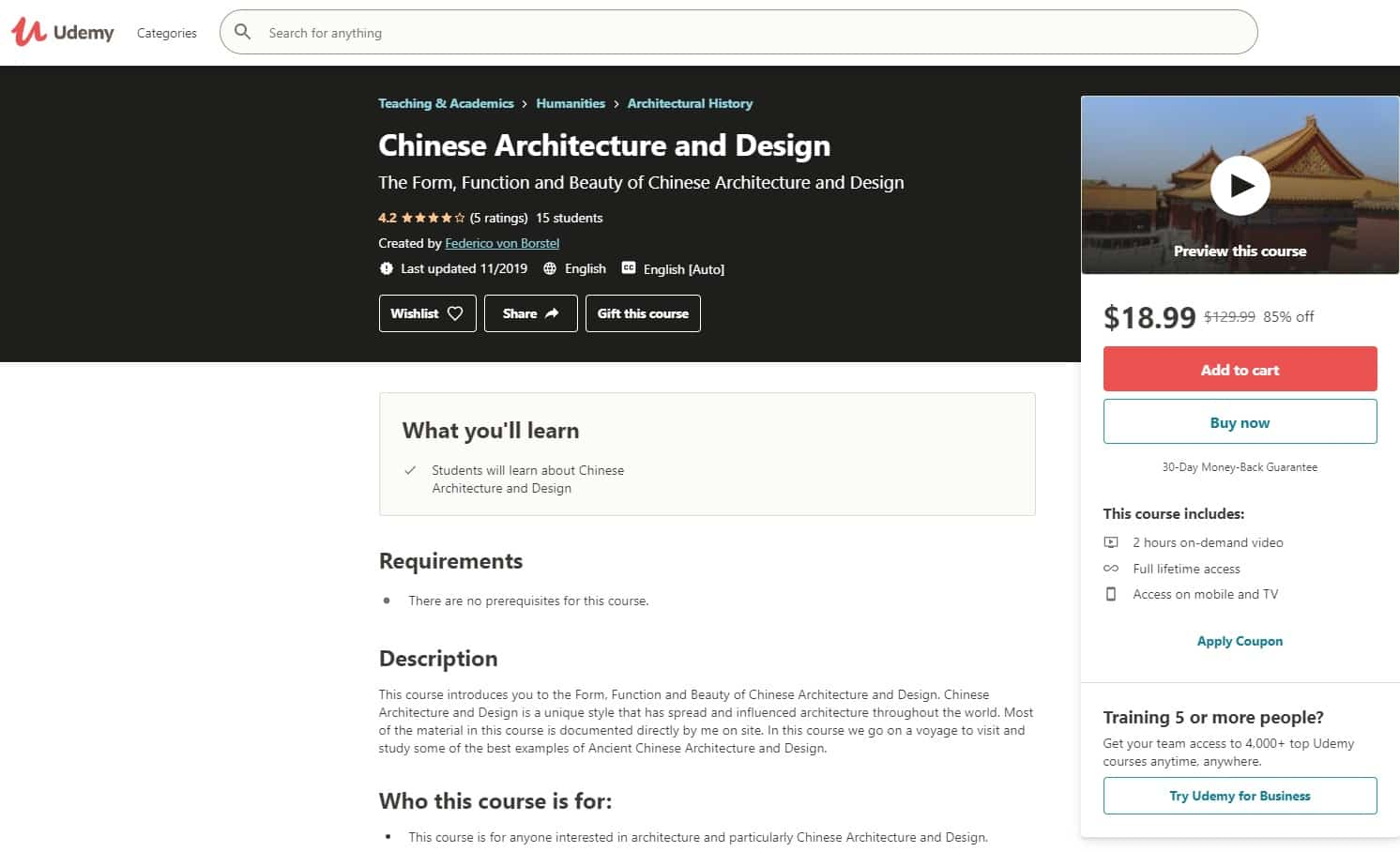 Udemy 1 Design and Architecture Lessons for Beginners