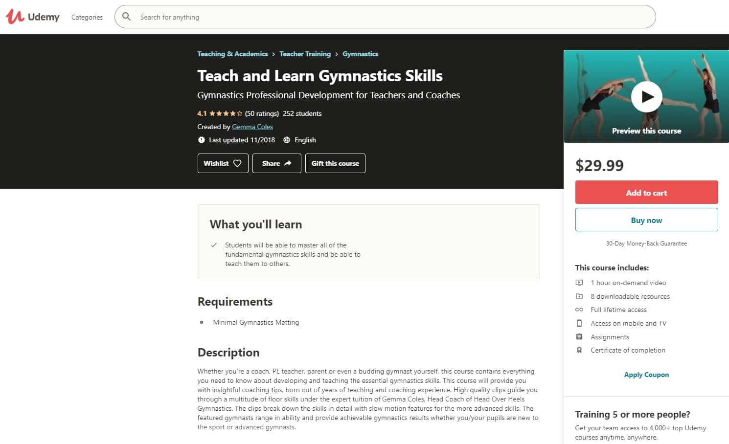 Udemy 1 Gymnastics Lessons for Beginners