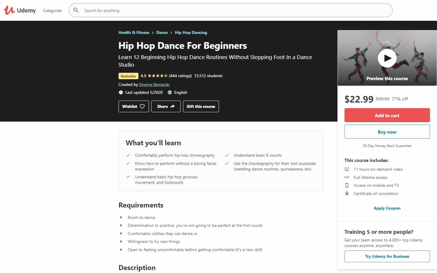 Udemy 1 Hip Hop Lessons for Beginners