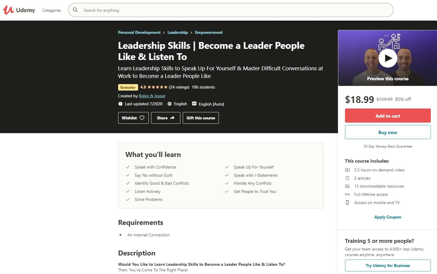 Udemy 1 Leadership Lessons for Beginners