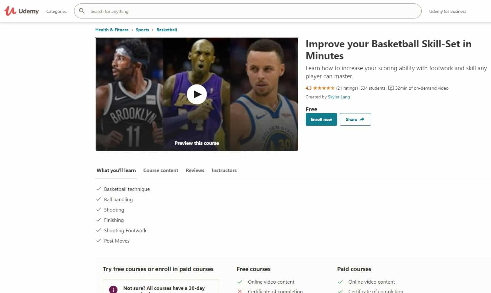 Udemy 2 Basketball Lessons for Beginners