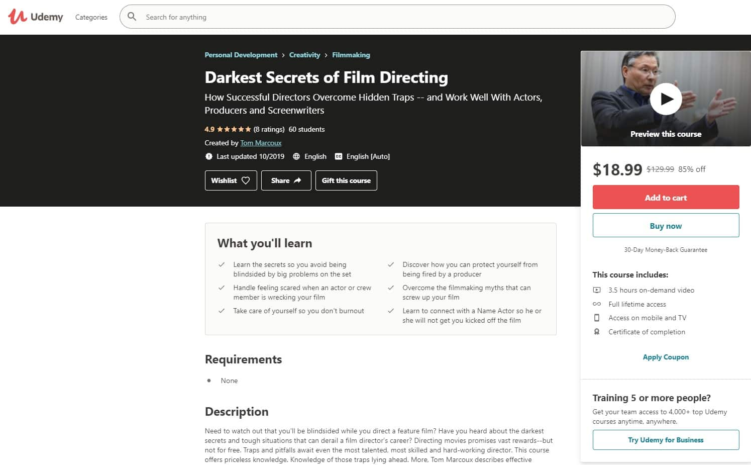 Udemy 2 Directing Lessons for Beginners
