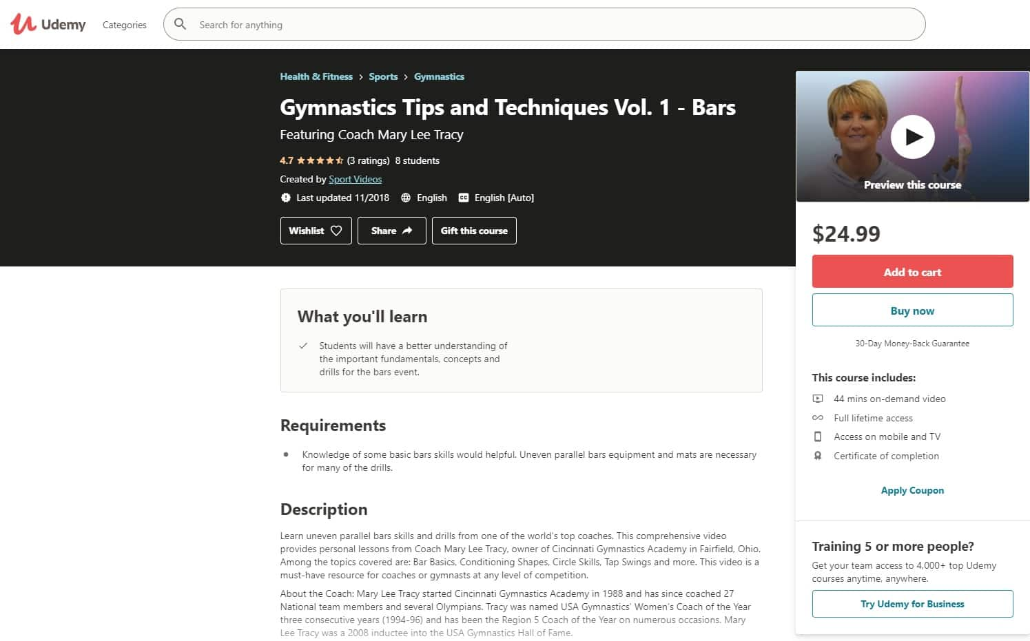 Udemy 2 Gymnastics Lessons for Beginners