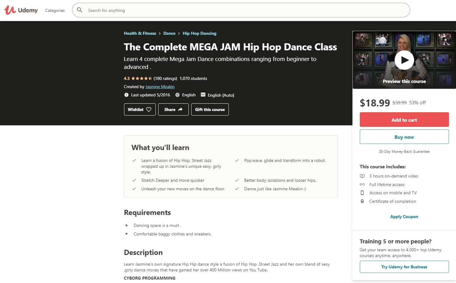 Udemy 2 Hip Hop Lessons for Beginners