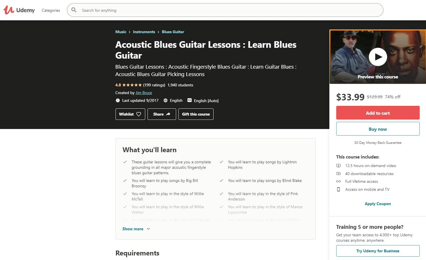Udemy 3 Acoustic Guitar Lessons for Beginners