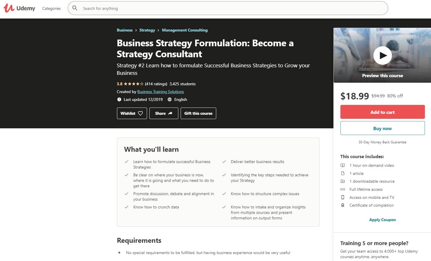 Udemy 3 Business Strategy Lessons for Beginners