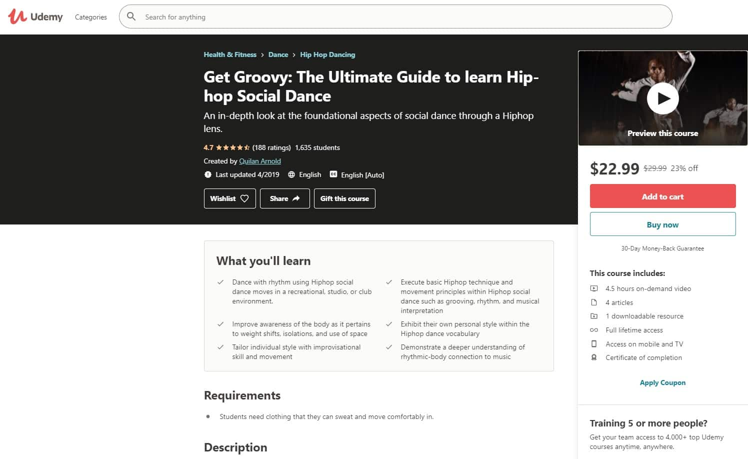 Udemy 3 Hip Hop Lessons for Beginners