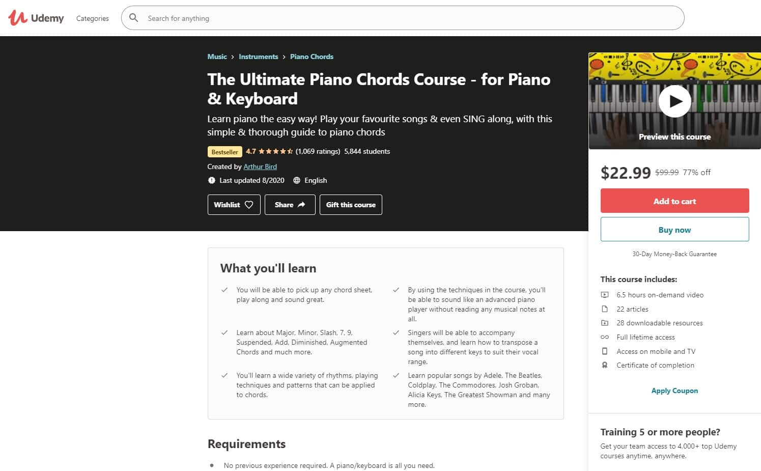 Udemy 3 Piano Lessons for Beginners