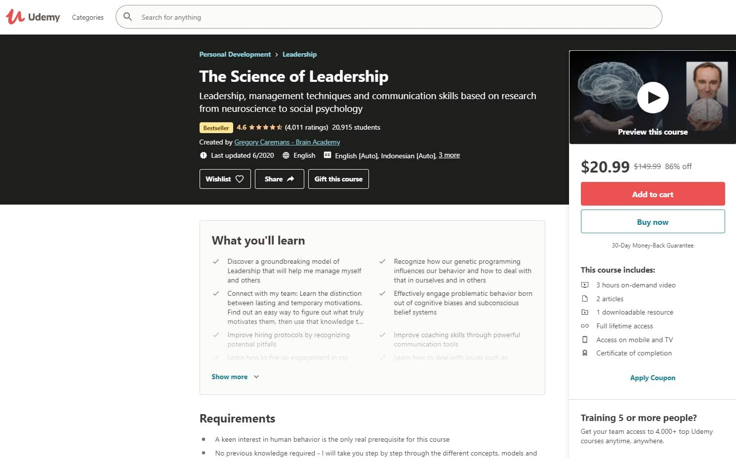 Udemy 4 Leadership Lessons for Beginners