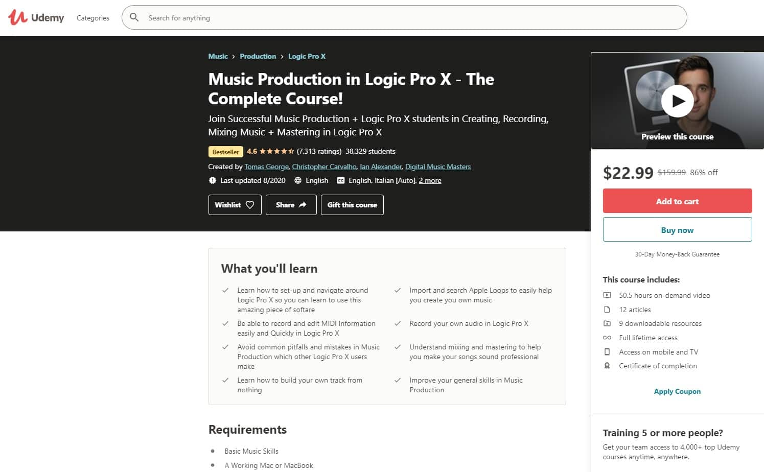 Udemy 4 Music Production Lessons for Beginners