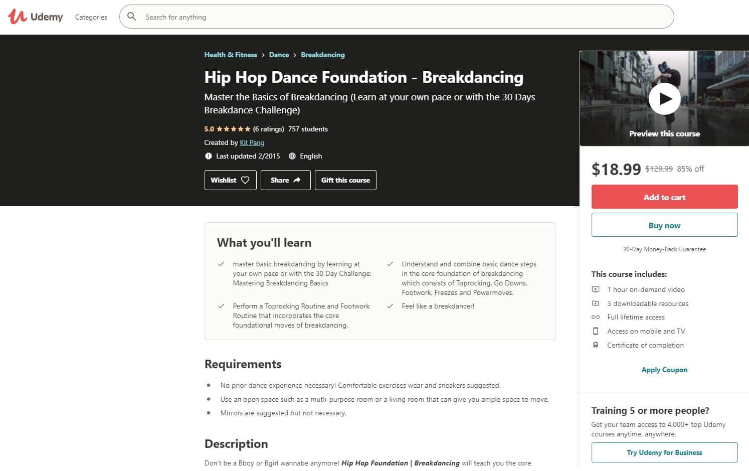 Udemy 5 Hip Hop Lessons for Beginners