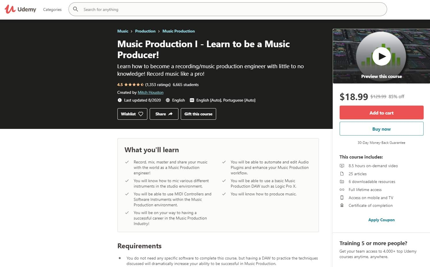Udemy 5 Music Production Lessons for Beginners