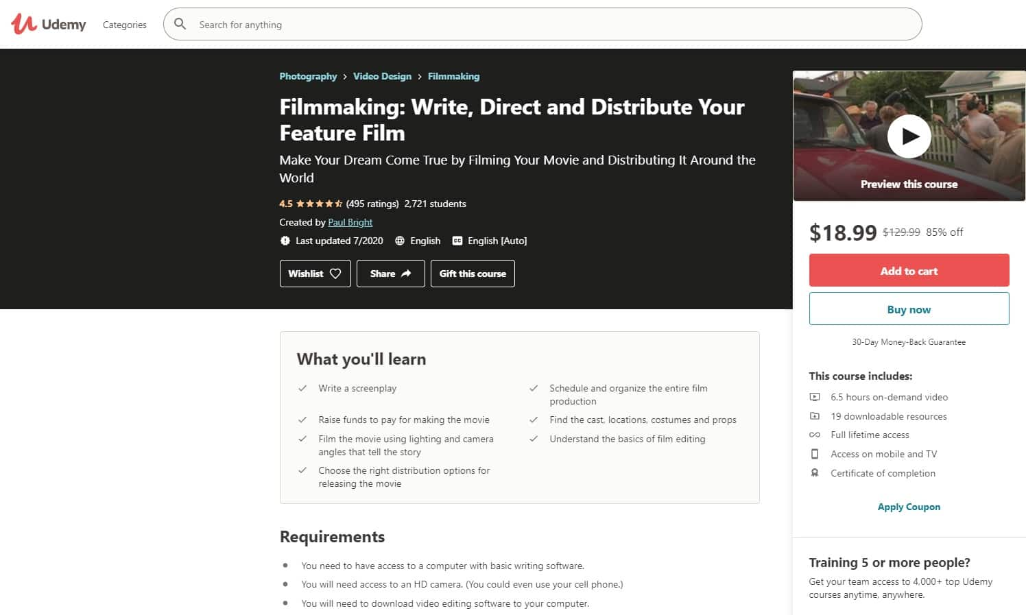 Udemy 6 Directing Lessons for Beginners