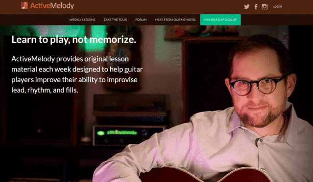 activemelody learn jazz guitar lessons online