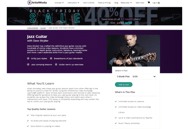 artistworks learn jazz guitar lessons online
