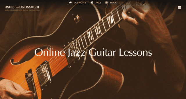 onlineguitarinstitute learn jazz guitar lessons online