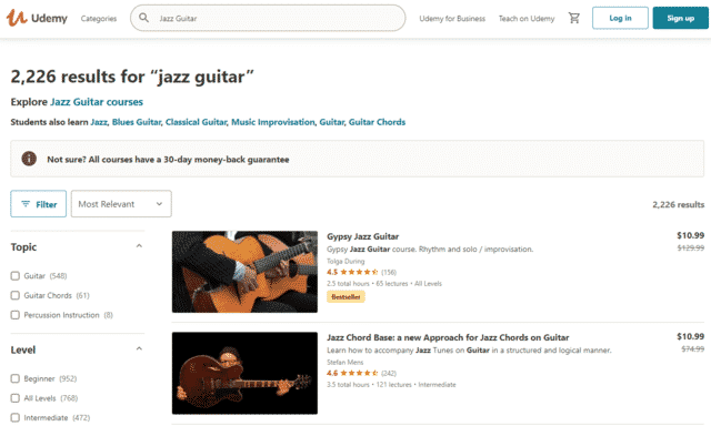 udemy learn jazz guitar lessons online
