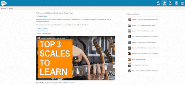 andyguitar learn guitar scale and modes lessons online