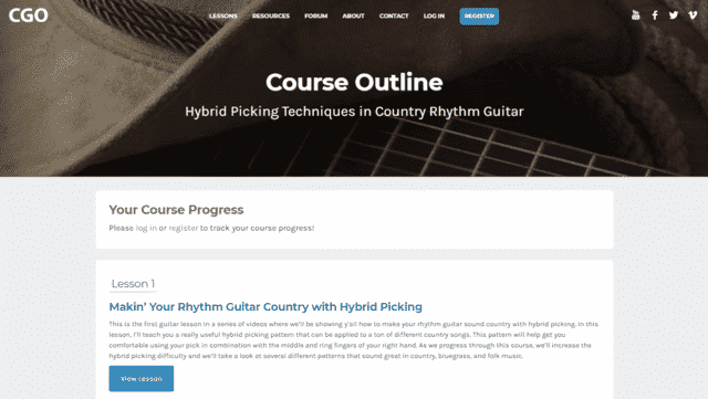 countryguitaronline learn guitar hybrid picking lessons online