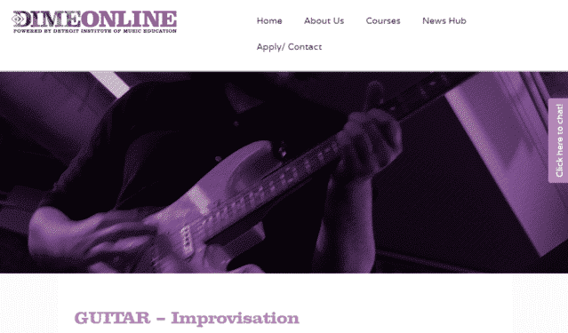 dimeonline learn guitar improvisation lessons online