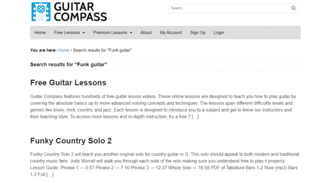 guitarcompass learn funk guitar lessons online