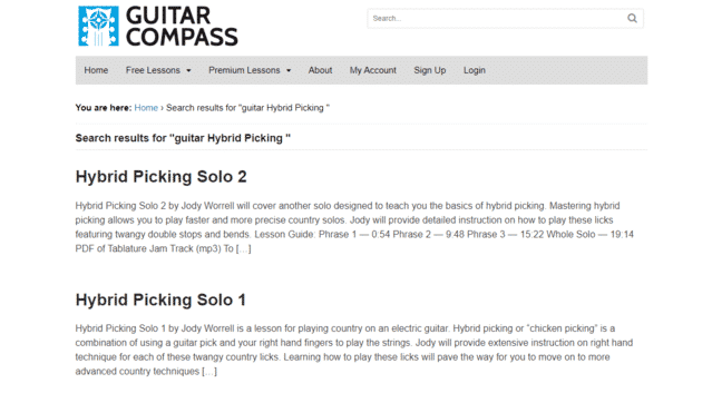 guitarcompass learn guitar hybrid picking lessons online
