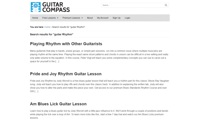 guitarcompass learn rhythm guitar lessons online