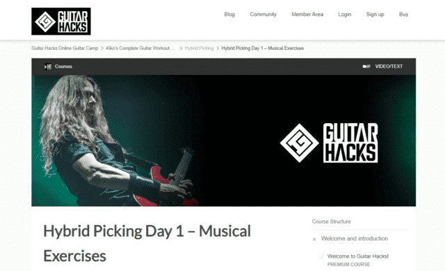 guitarhacks learn guitar hybrid picking lessons online