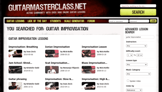 guitarmasterclass learn guitar improvisation lessons online