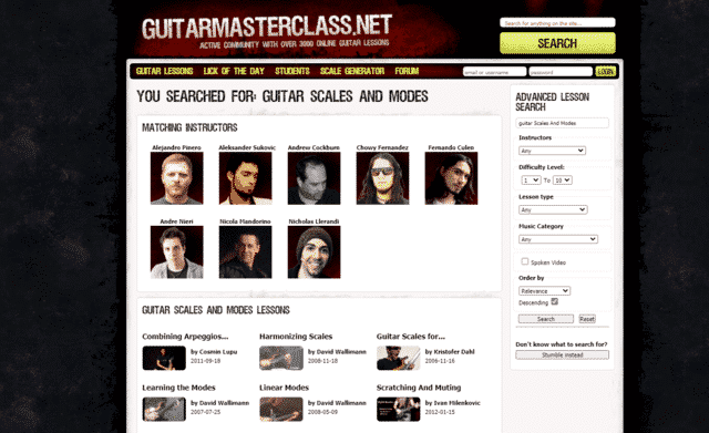 guitarmasterclass learn guitar scale and modes lessons online