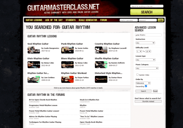 guitarmasterclass learn rhythm guitar lessons online