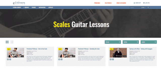 infiniteguitar learn guitar scale and modes lessons online