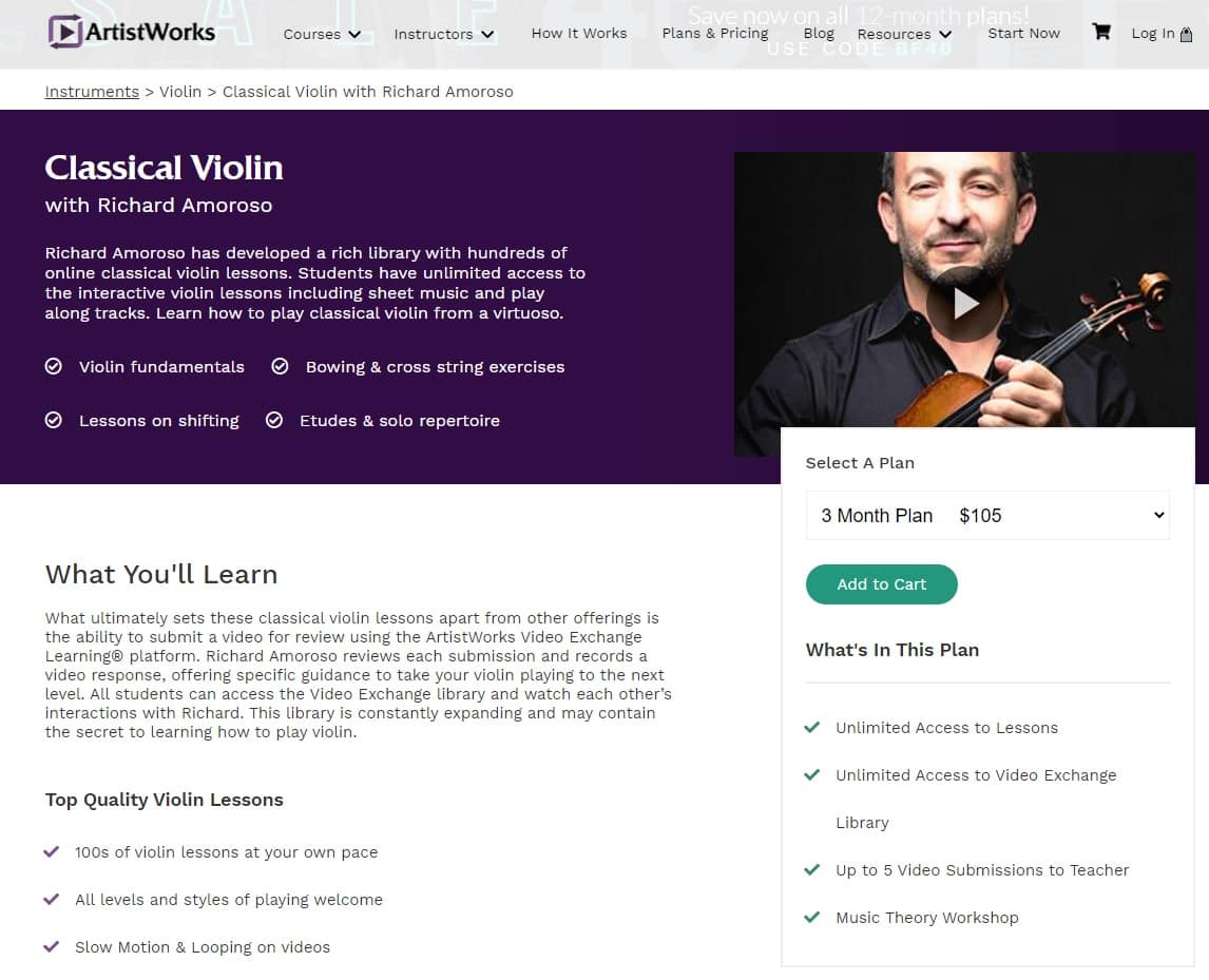Classical Violin with Richard Amoroso