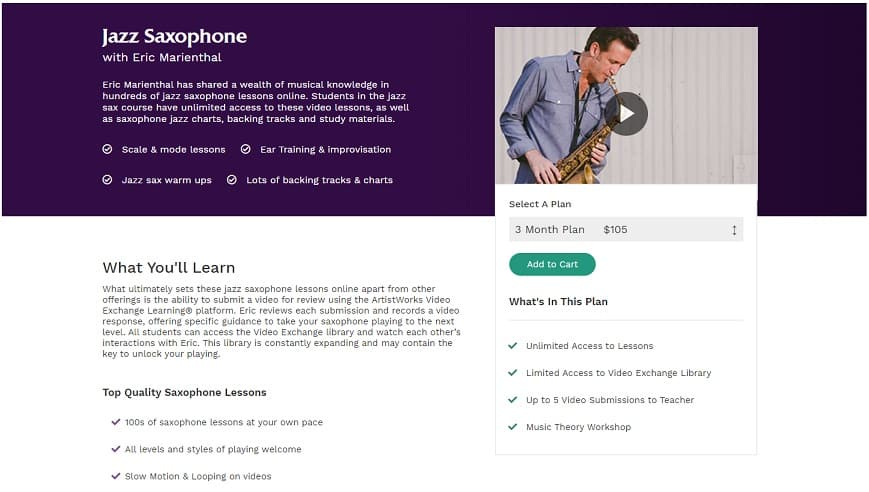 Jazz Saxophone with Eric Marienthal