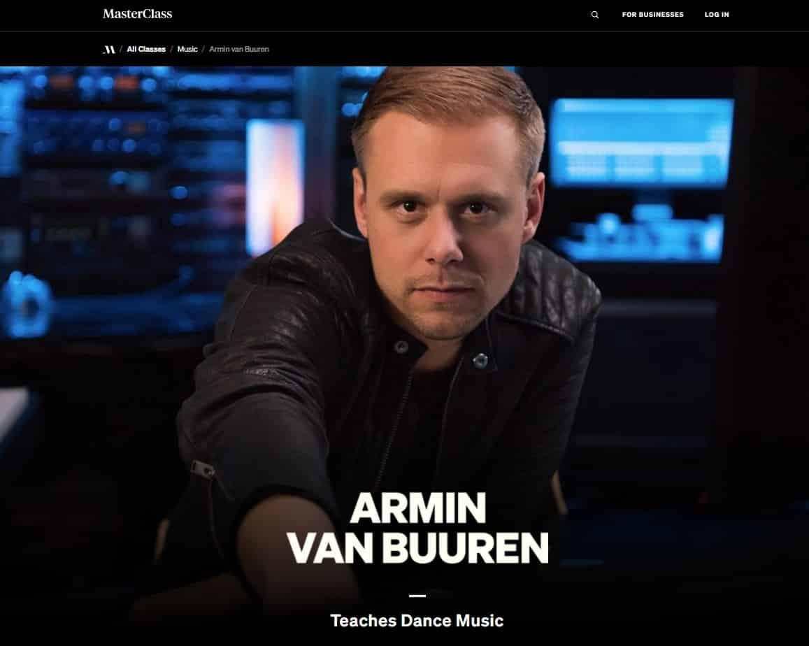 MasterClass Armin Van Buuren Dance Music Lesson