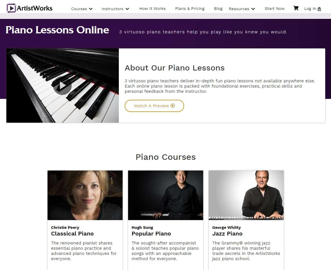 Piano Lessons Online