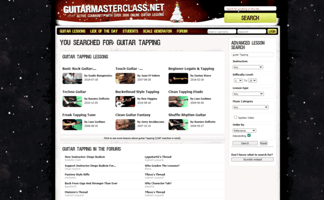 guitarmasterclass learn guitar tapping lessons online