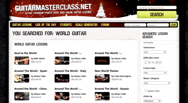 guitarmasterclass learn world guitar lessons online