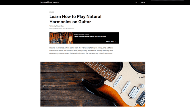 masterclass learn guitar harmonics pinch natural lessons online