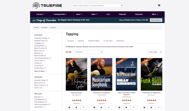 truefire learn guitar tapping lessons online