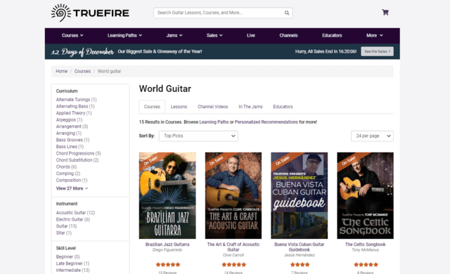 truefire learn world guitar lessons online