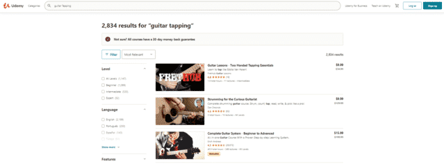 udemy learn guitar tapping lessons online