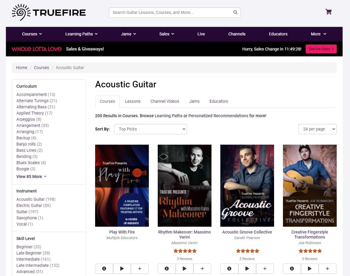 True Fire Learn Acoustic Guitar Online