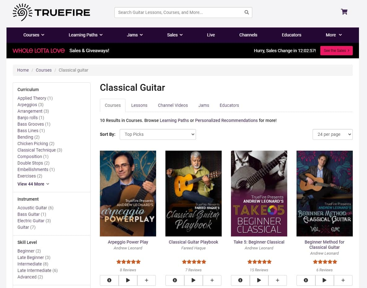 True Fire Learn Classical Guitar Online